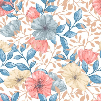 Retro pattern flowers